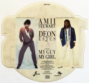 "AMII STEWART/DEON ESTUS - My Guy My Girl (7"") (Shaped Picture Disc) (EX/EX)"